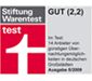 Stiftung Warentest 'GUT'